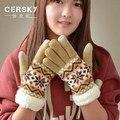 2017 Top Quality Women's Gloves Winter Arctic Velvet  Gloves Warm Gloves Women Men Snowflake Pattern Full Finger Unisex Gloves