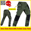 Alta Qualidade verde Do Exército dos homens de carga durável trabalho pant calças de trabalho frete grátis
