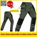 De alta Calidad de Los Hombres Del Ejército verde durable carga de trabajo pantalones de trabajo pantalones envío gratis