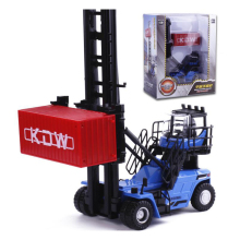 1:50 High Simulation Alloy Engineering Vehicle Empty cContainer Stacker Car Models for Kids Toys Collection