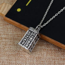 Doctor Who Police Box Shaped Alloy Pendant Neckalce