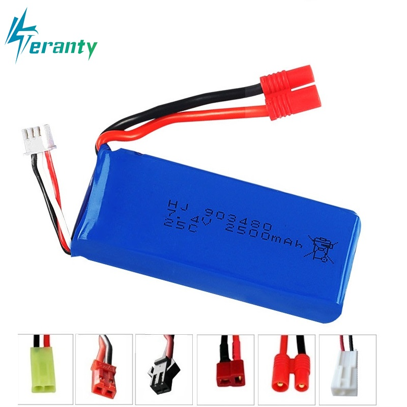High Rate Battery 903480 2500mAh 2S 7.4V 25C Lipo Battery Helicopter Battery For Syma X8C X8W X8G With Voltage Protection Board