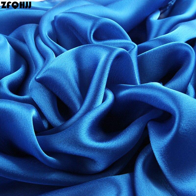 ZFQHJJ 180x90cm Women Silk   Scarf   Shawl Female Pure Silk   Scarves     Wraps   Plus Size Shawls Long Beach Cover-ups Muslim hijab   Scarf