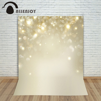 Allenjoy Photography Backdrops Gold Void Spots Glitter Fashion Beautiful Shiny Baby Photo Background Photography Backdrops