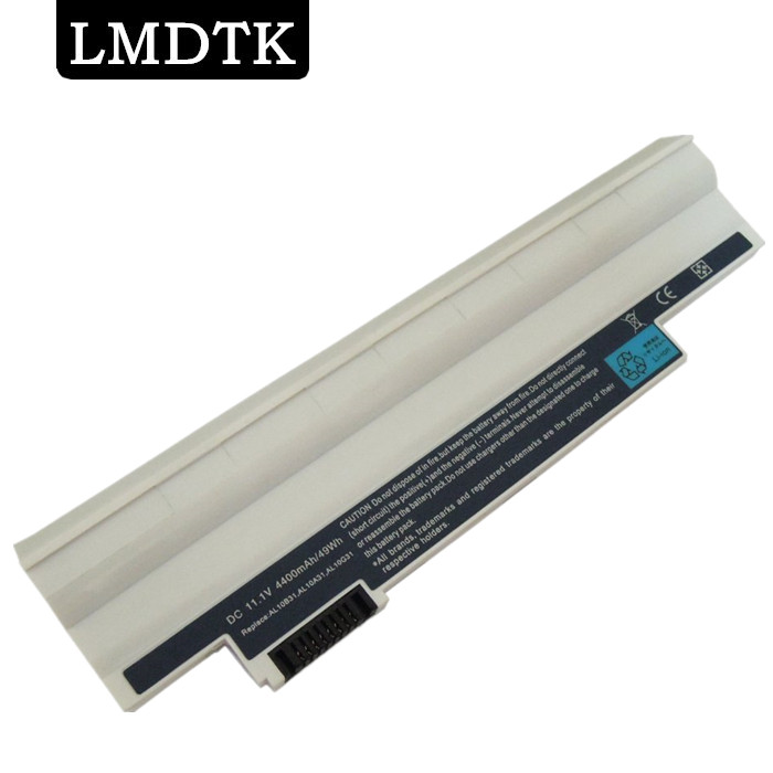 все цены на LMDTK New WHITE 6CELLS laptop battery for Acer ASPIRE ONE D255 D260 AL10B31 AL10A31 AL10G31 6CELLS Free shipping онлайн