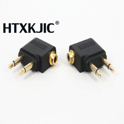 Computer Cables & Connectors Selfless 1pcgold Nickel Plated Airplane Air Plane 3.5mm Airplane Airline Headphone Mono Audio Converter Travel Jack Plug Splitter Adapter