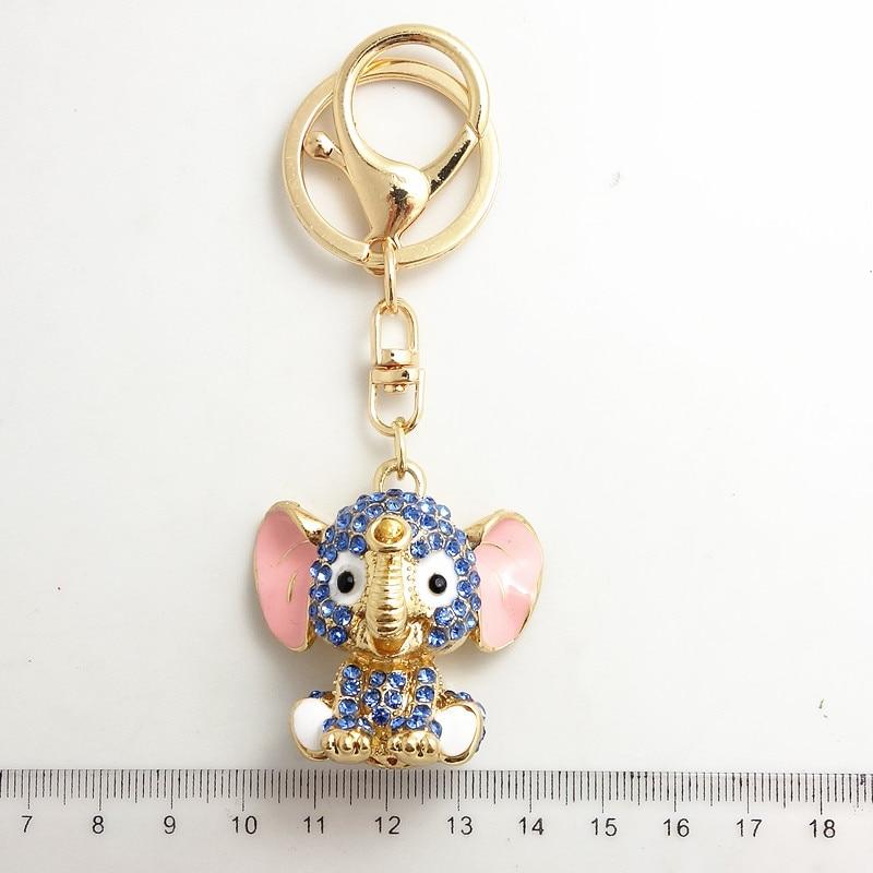 Mėlyni dramblių raktų pakabukai, krištolo raktų pakabukai, - Mados papuošalai - Nuotrauka 2