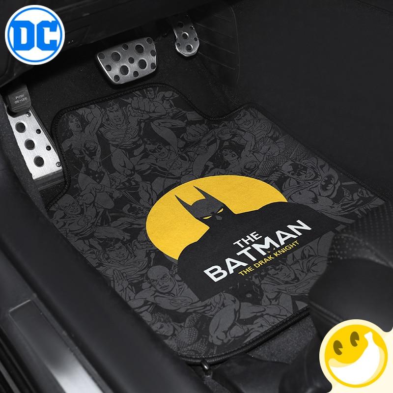 Justice Alliance Theme style Universal Car Floor Mat short pile velour Front Rear Antiskid Anti dirty