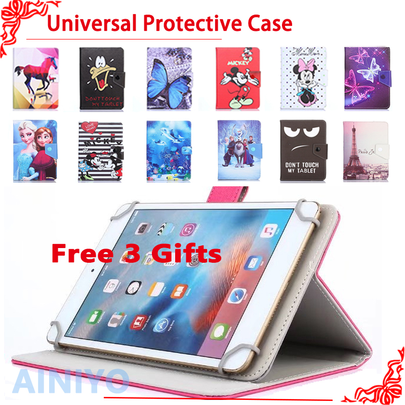 Newset Universal Cartoon fashion case for Digma Plane 7004 3G 7 Inch tablet pc Protective Cover + free 3 gifts планшетный пк digma plane 7004 3g ps7032pg