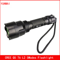 C8 Super Bright Cree xm-l2 xml t6 q5 Flashlight Powerful Waterproof Led Torch Rechargeable Lanterna Camping Flash Light Lumens