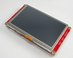 Bezpłatny statku 4.3 cal moduł TFT LCD kolorowy ekran dotykowy STM32 interfejs szeregowy ekran RS232/485 UCGUI rozwoju pokładzie