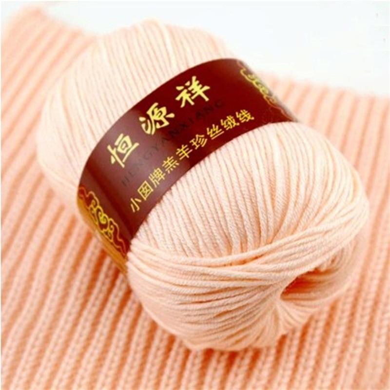 300g/Lot 6 Balls High Quality Cashmere Knitting Crochet Yarn Baby Wool Yarns Soft Warm Hand Knit Woolen Thread Eco-Friendly Dyed