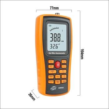 BENETECH Przyrząd Pomiarowy Anemometr Cyfrowy Miernik Prędkości Wiatru Urządzenie Do Pomiaru Temperatury Interfejs USB GM8903 0 ~ 30ms Anemometr Czujnik Wiatru