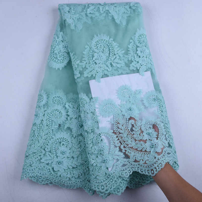 Африканское сухое кружево ткань французская красивая кружевная ткань вышитое кружево в нигерийском стиле ткань с камнями для женщин Свадебное платье A1575