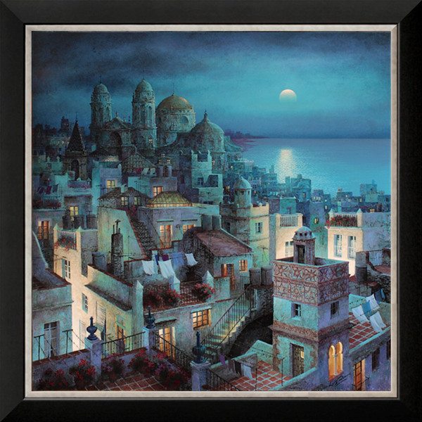 Embroidery Cross Stitch Kits Needlework City Seaside Night Scenic Craft 14CT Counted Canvas Unprinted DMC DIY Art Handmade Decor