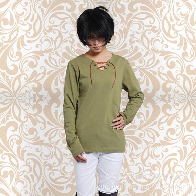 Novo ataque anime em titan não kyojin ellen ackerman eren jaeger t-shirt unisex cosplay tops camisetas 121706