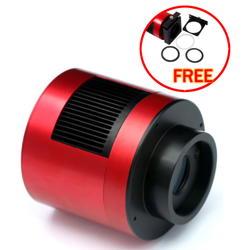 ZWO ASI 290MC (color) COOLED ASTRONOMY CAMERA USB 3.0 with free a set of 2  filter drawer an atlas of astronomy