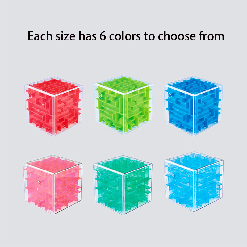 3D Maze Children Improve Hands-on Balance Magic Cube Puzzle Labyrinth Steel Ball Game Educational Toys
