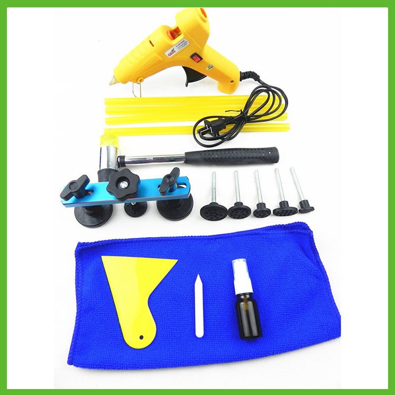 SAT0372 Car Repair Kit Tools Pulling Bridge Dent Remover Hand Tool Set For Paint Dent Repair Tool Kit Ferramentas Hot Glue Gun