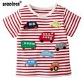 1-6T Children's T shirt Baby boy & girl T shirts Brand Short Sleeves Children Clothing Cotton Cartoon truck tshirt tees