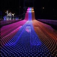 4X6M Lights Mesh Christmas Fairy Lights Decoration Outdoor LED Net Light Garden Decorative Waterproof 220V Wedding Party Holiday