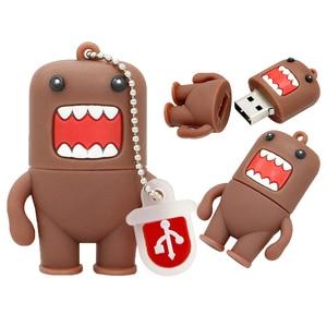 Image 3 - Cartoon Pen Drive 64GB Japanese Domo Kun Girl Lovely Creative USB Flash Drive 4GB 8GB 16GB 32GB USB Flash Memoria Stick Disk
