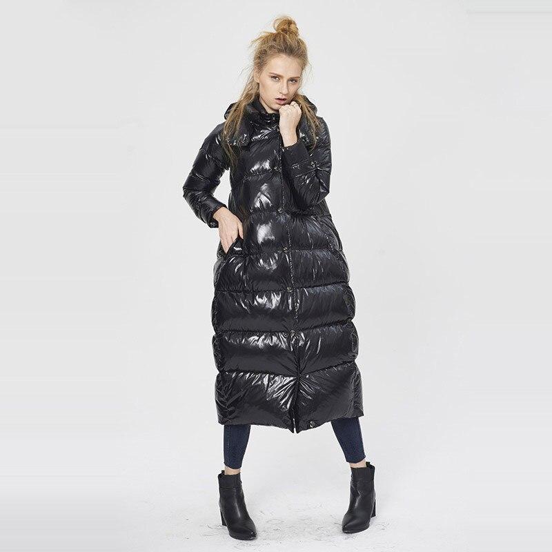 Black D'hiver Plume De 5xl Long 2019 Soufflage Grande Manteau Et Nouvelle Capuchon Lâche Canard W57 Doudoune Veste Épais Womem Taille À Duckn Imperméable T0qHwB
