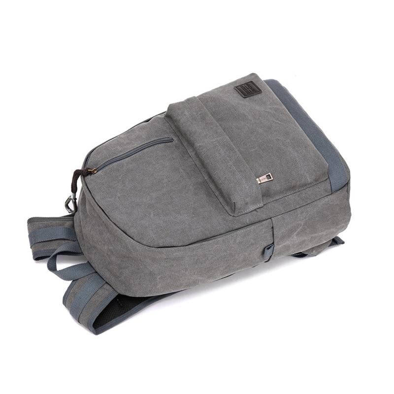 2018 new tide men shoulder bag canvas travel backpack external usb charging interface with headphones hole student bag Y147