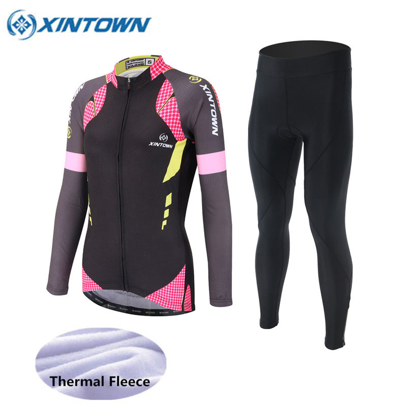 2018 Winter Thermal Fleece Women MTB Bike Cycling Jersey Set Cycling Clothing Ropa Ciclismo invierno mujer sport pro bicycle fualrny 2018 winter fleeced thermal cycling clothing set racing bike sportswear maillot ropa ciclismo invierno bicycle jersey