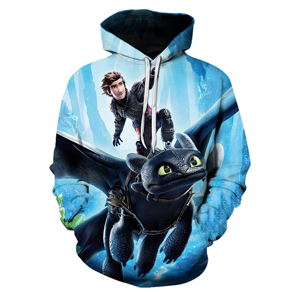 New adult How to Train Your Dragon Toothless Cosplay  Hoodies 3D Print Sweatshirt size S-6XL