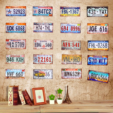 Car License Plate Vintage Tin Sign Plates Shabby chic signs Metal plaques Beer Art Poster Bar Pub Tavern Wall Decor