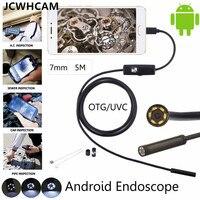 JCWHCAM Android Telefoon Inspectie Camera 5 M 7mm lens Endoscoop inspectie Pijp IP68 Waterdicht 480 P HD micro USB Snake Camer