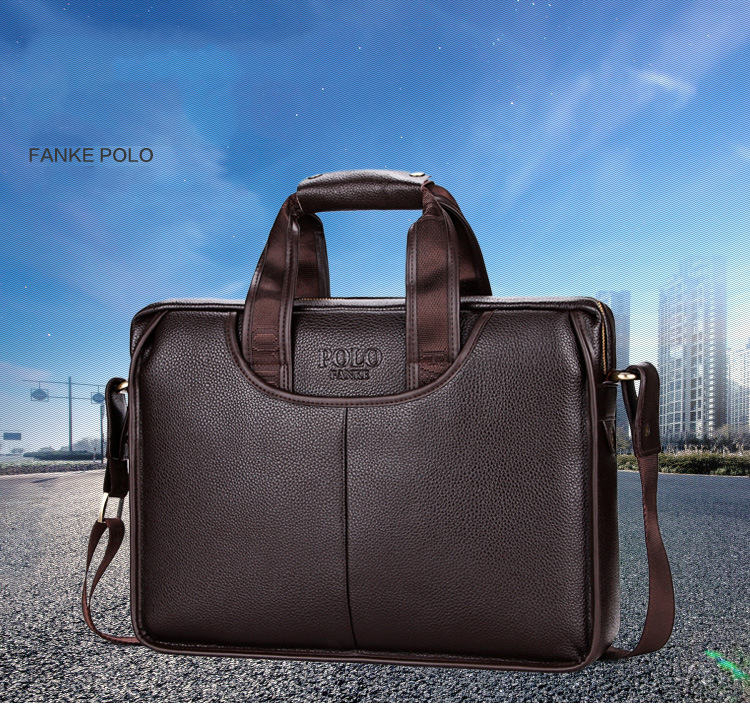 Men S Briefcases PU Leather Men Crossbody Bags Business Male ... 55f870857d5ee