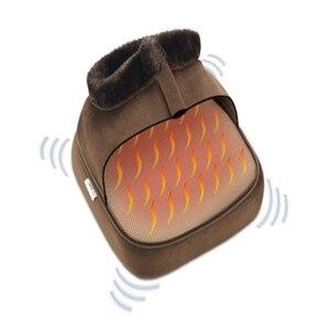 Image 4 - 2 w 1 elektryczny ogrzewacz do stóp przytulne Unisex aksamitne stopy ogrzewacz do stóp masażer duży pantofel stopy ciepła ciepłe buty do masażu