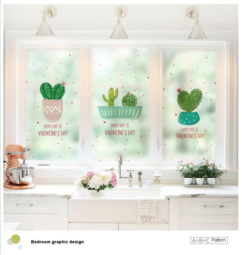 Home Decor Privacy Window Film Stained Glass Window Film Stickers