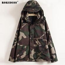 Tactical Camouflage Jacket Men Women  Camo Hooded Windbreaker Jackets Military Canvas Jacket Parka Fashion Streetwear