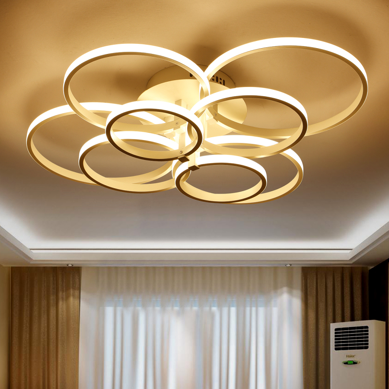 Modern led bedroom ceiling lights cool warm white kitchen lamp living room lighting for Warm white or cool white for living room