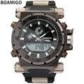 BOAMIGO 2016 popular marca de Los Hombres deportes militares relojes de Hora Dual Digital de Cuarzo banda de goma Reloj de pulsera relogio masculino