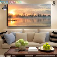 Diy Diamond Painting Sunrise Full Embroidery The New Modern Minimalist Living Room Hanging