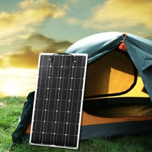 Dokio 12V 100W Monocrystallineแผงพลังงานแสงอาทิตย์ที่มีความยืดหยุ่นแบบพกพา 100Wแผงพลังงานแสงอาทิตย์สำหรับ 16Vรถยนต์/เรือ/Homeแผงพลังงานแสงอาทิตย์ 200Wจีน
