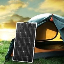 Dokio 12V 100W Monokristalline Flexible Solar Panel Tragbare 100W Panel Solar Für 16V Auto/Boot/Home Panel Solar 200w China