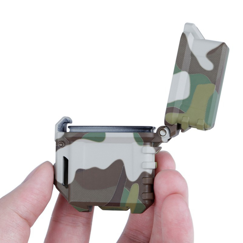 Tactical Lighter Cigarette Storage Case Universal Portable Box Container Organizer Holder Inner Smoking BBQ Accessories