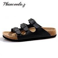 בתוספת גודל 5-11 נעליים בסגנון קיץ סנדלי אישה נעלי בית פקק צבעים מעורבים הדפס נעלי כישלון להעיף למעלה איכות מקרית משלוח חינם
