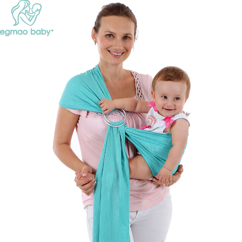 2 Aluminum  Adjustable Ring Baby Carrier Toddler Sling Carrier Water Mesh Fast Drying Slings Stretchy Wrap Carrier For Newborn