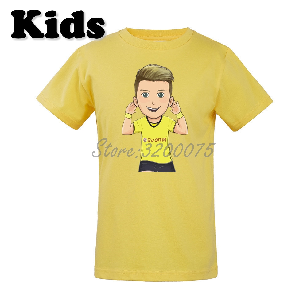low cost 5ffd4 17a87 US $16.88 |Kids Marco Reus 11 Comic Cartoon T shirt Clothes Borussia T  Shirt Youth boys girl tshirt for Dortmund fans o neck tee W19032905-in  Matching ...
