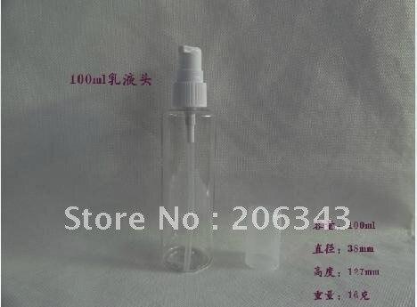 100 МЛ прозрачная бутылка лосьона или туалет бутылки с водой