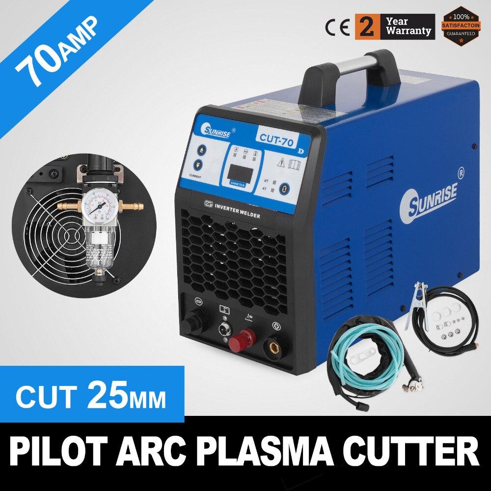PLASMA-70 Plasma Cutter 70A HF Inverter Jede Metallic Materialien Bis Zu 25mm
