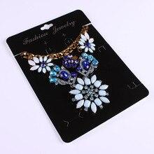 100 stks Kraft Mode sieraden Grote Kaart Ketting & Earring 14x19 cm Zwart Papier Hang Tag Sieraden Displays kaarten
