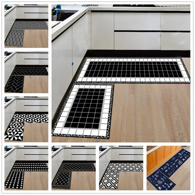 Modern Geometric Kitchen Mat Anti Slip Bathroom Carpet Home  Entrance/Hallway Door Mat Wardrobe/Balcony Area Rug Creative Carpets