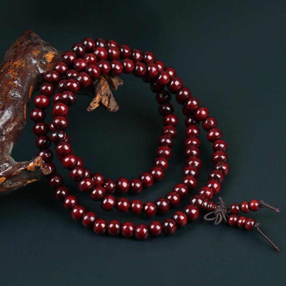 Gorąca sprzedaż koraliki bransoletka pani prezent biżuteria Indian ulotki palisander 108 ręcznie ciąg gwiazda księżyc Bodhi